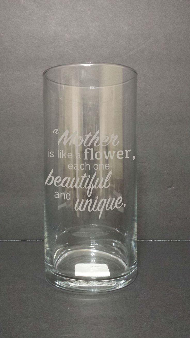 Glass Etched Flower Vase For Mother S Day Mothers