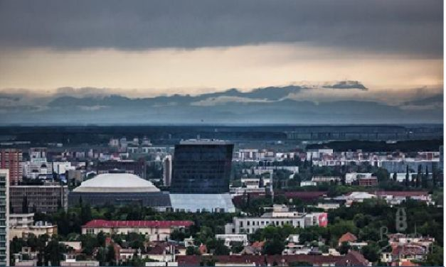 This picture was taken from the roof top of Bucharest Tower Center  a few years ago ! Really awesome !
