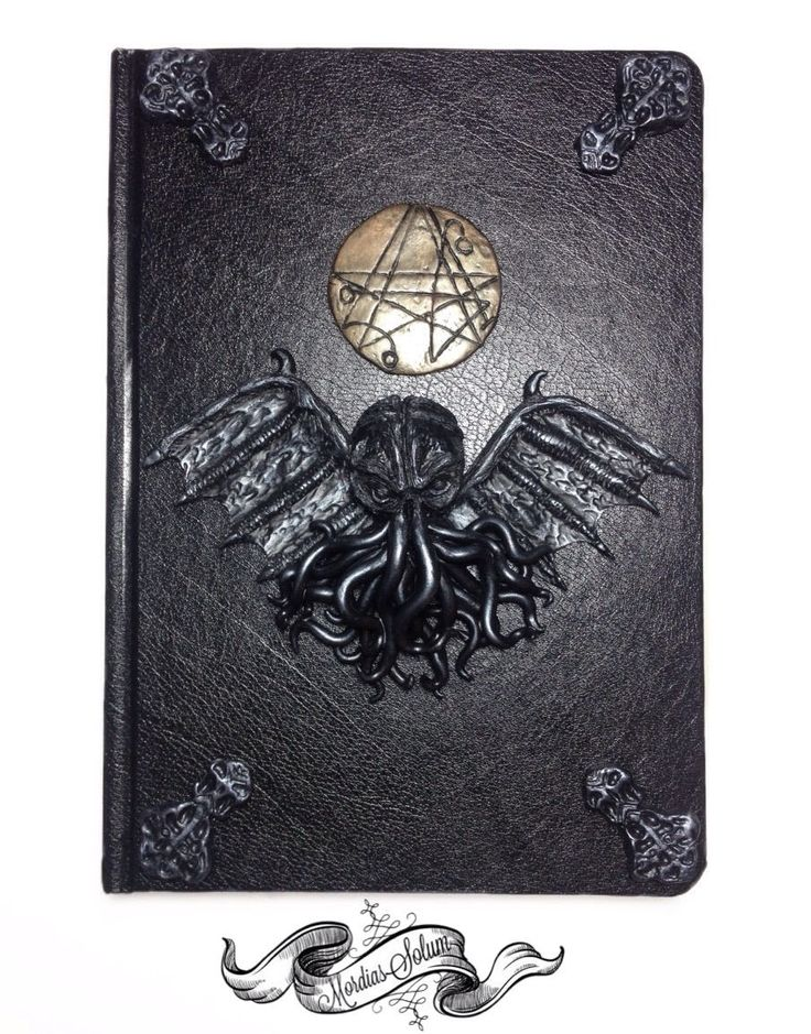 Cthulhu H.P Lovecraft Necronomicon Handmade Clay Art Notebook/Journal/Diary, Occult Dark Art, Witch Book, Magic Grimoire. by MordiasSolum on Etsy