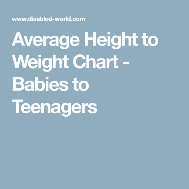height and weight chart child