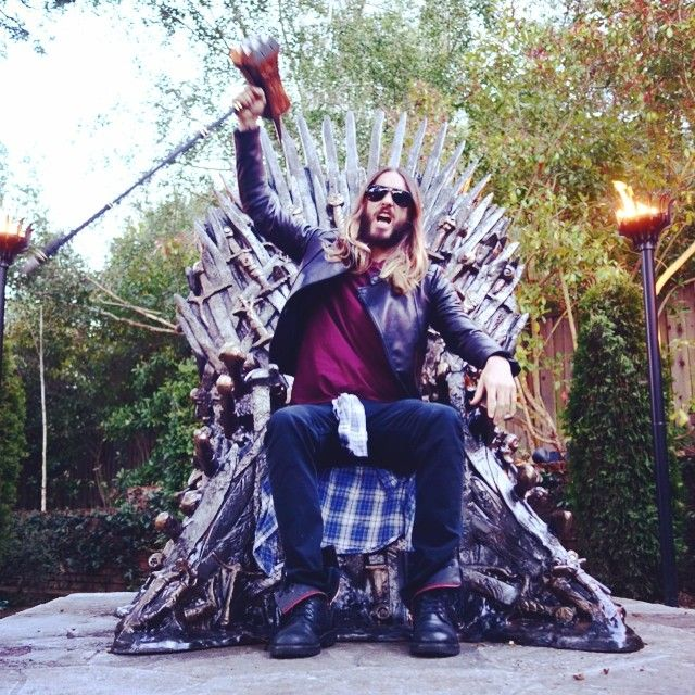 "Jaredleto: ""HOUSE LETO. #GameOfThrones #YouKnowNothingJonSnow #GoT"""