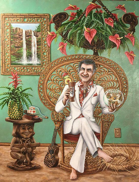 CANVAS PRINT Portrait of a Khan Man Mr Roarke Tattoo Fantasy