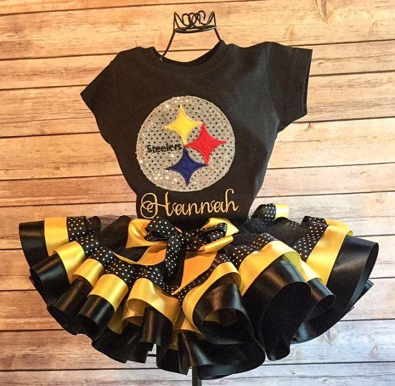Pittsburgh Steelers Football Tutu Cheerleader by SnappyGirls