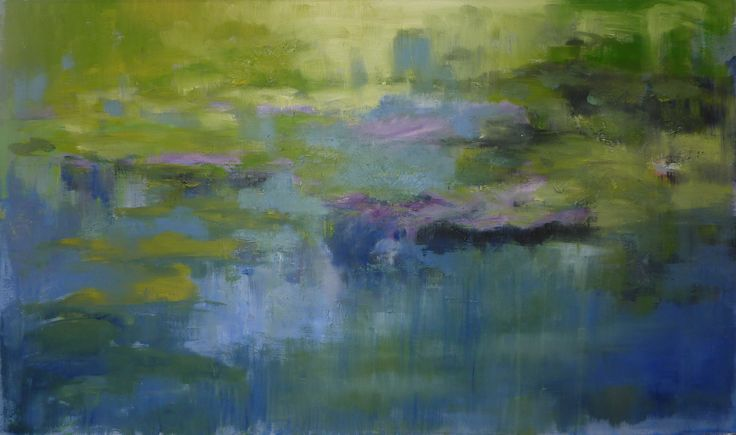 Ninfee a Giverny - 100 x 60 oil on canvas