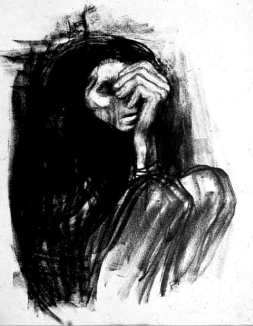 Kathe Kollwitz - Death on a Roadside (1935)