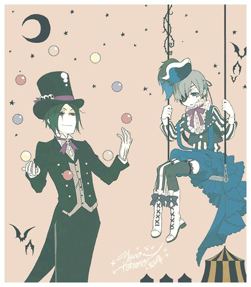 Kuroshitsuji Book of Circus GIF. Black Butler.