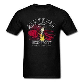 Amazon com AneSwing One Punch Man Saitama University Fitness Men T Shirts Clothing