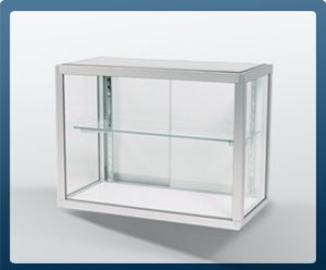 Glass Display Cases, Jewelry Showcases, Retail Wall Display Case Sale