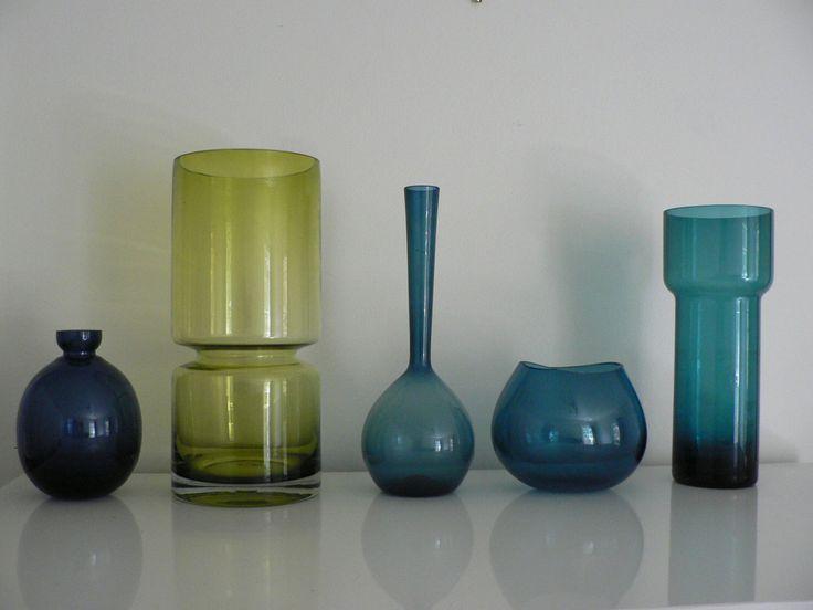 Mid century studio art glass vase / 1950s 60s turqoise blue glass vase / modernist  Scandinavian  vase by secreteyesonly on Etsy https://www.etsy.com/listing/261595450/mid-century-studio-art-glass-vase-1950s
