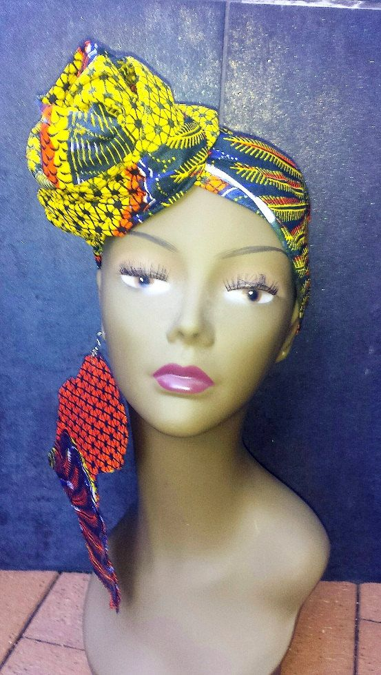 African head wraps for women Ankara head wraps by BabyOkraBoutique