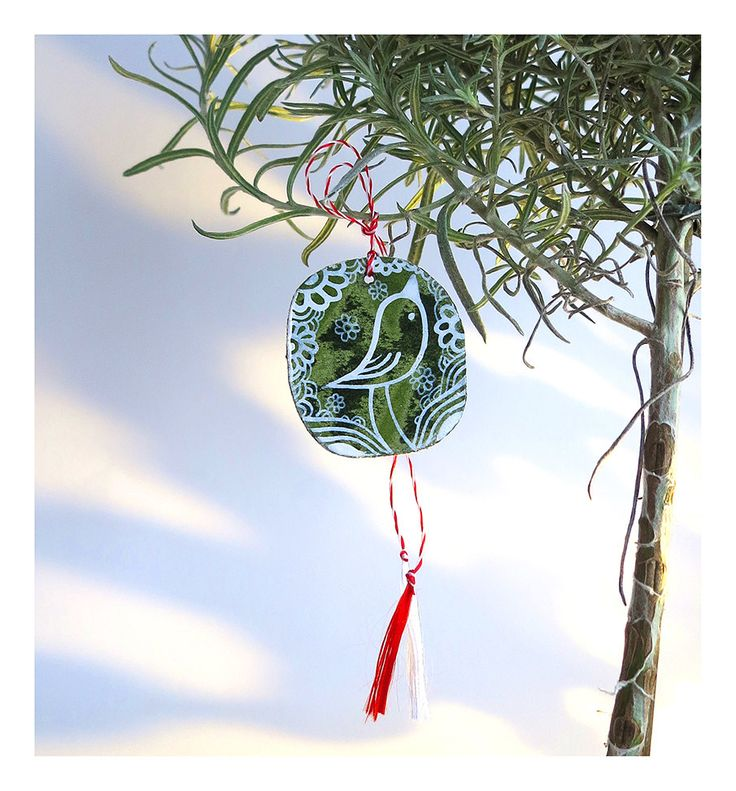 Martisor, Decorative - Folk Bird, Traditional, Handmade, Spring Charm by Alaalina on Etsy