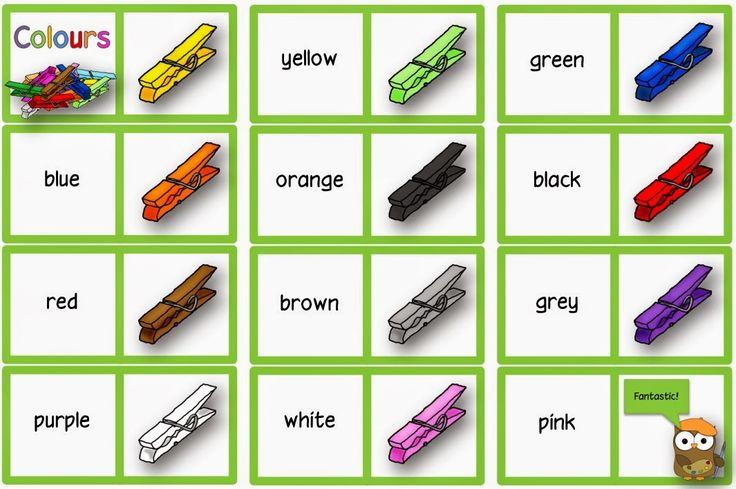 """Englisch in der Grundschule:: Übungsmaterial zum Thema """"colours"""""""