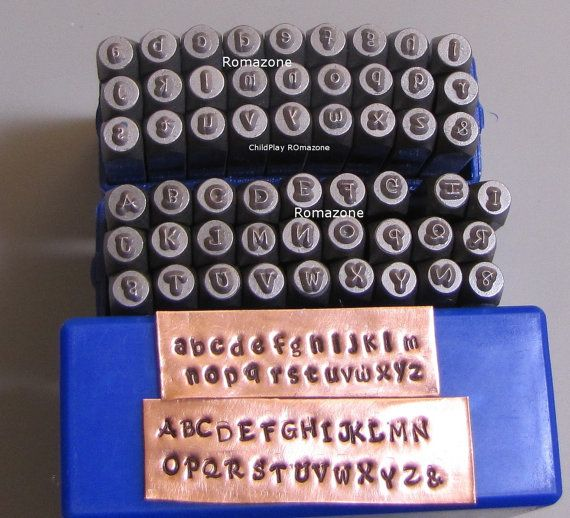 this etsy shop has tons of supplies for stamped metal jewelry view letter stamps and