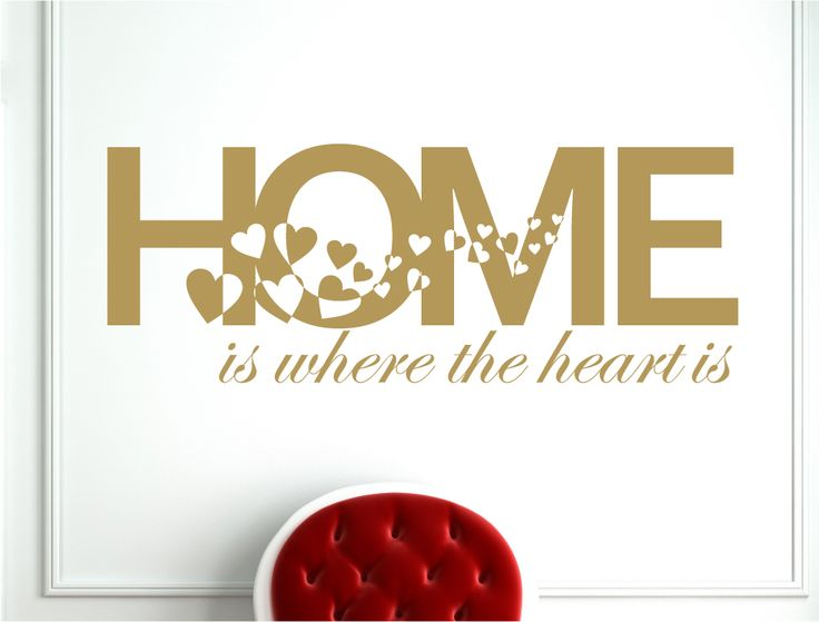 Home Is Where The Heart Is Wall Sticker | Wall Quote Decal   Aspect Wall Art Part 75