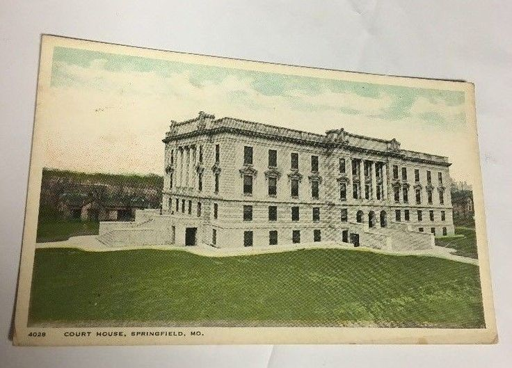 Vintage Greene County Court House Building Springfield Missouri MO Postcard