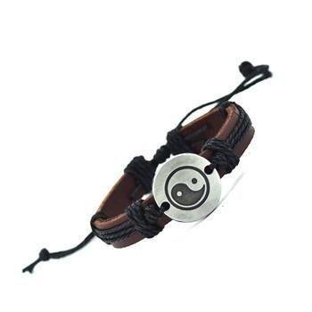 Yin Yang Leather Bracelet [Variations]