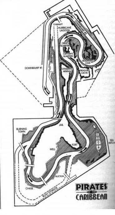 Pirates of the Caribbean (Disneyland) - site plan