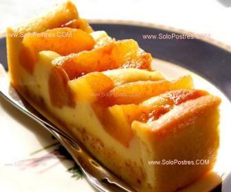 Tarta de crema pastelera y manzanas acarameladas                                                                                                                                                                                 Más