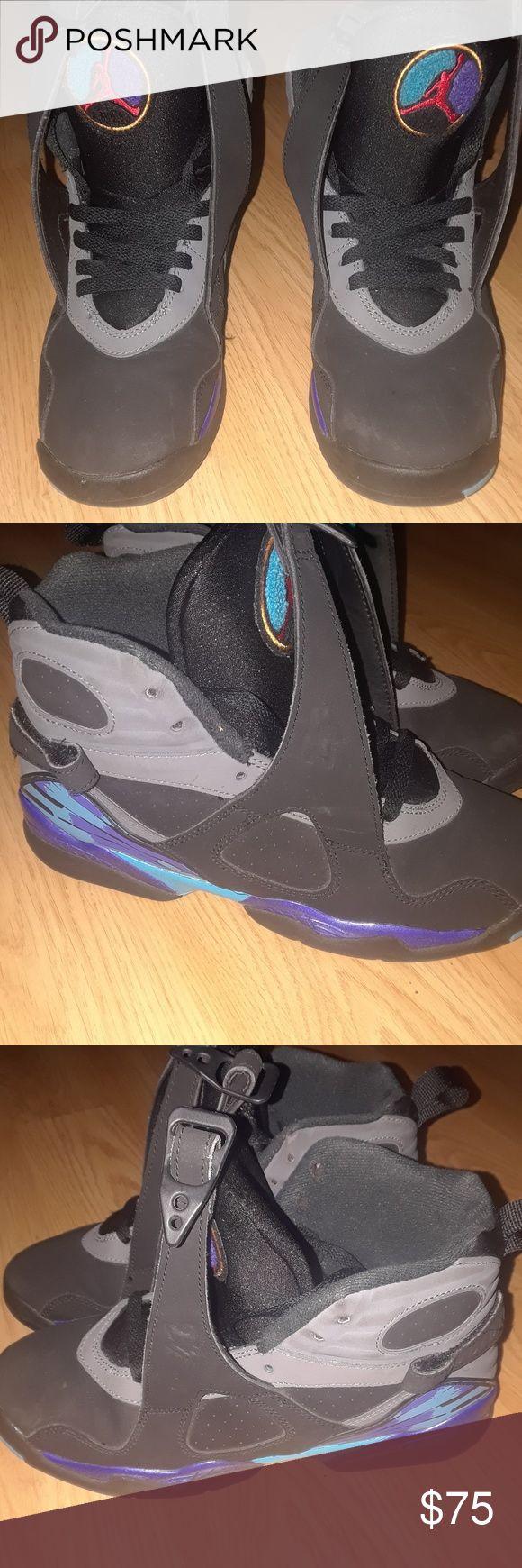 Jordan aqua 8 size 6 Worn 4 times has no creases in great shape Jordan Shoes Sneakers
