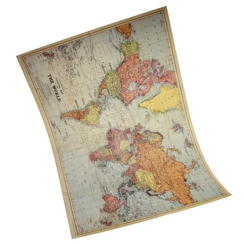 Vintage Map of the World Poster DIY Wedding Table Plan Idea Interior Home Decoration world Map Poster