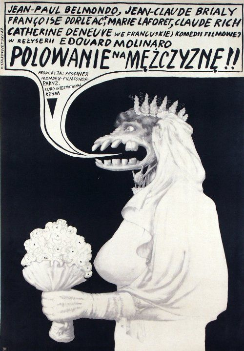 La Chasse a l'homme, Polish Movie Poster