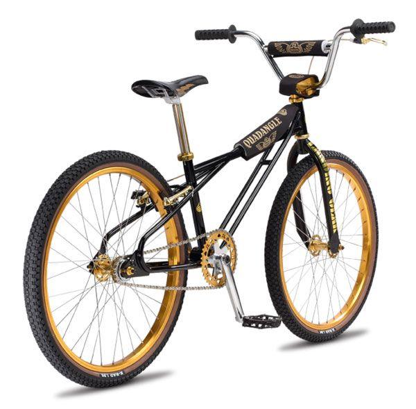 black and gold bmx bike