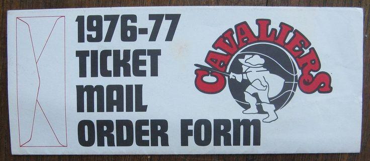 1976-1977 Cleveland Cavaliers Ticket Order Form Schedule