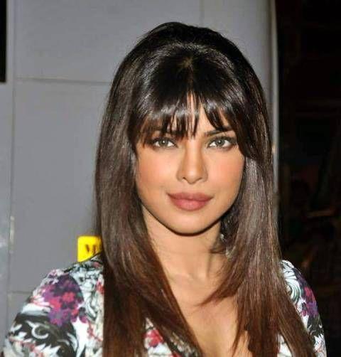 priyanka chopra sleek front bangs