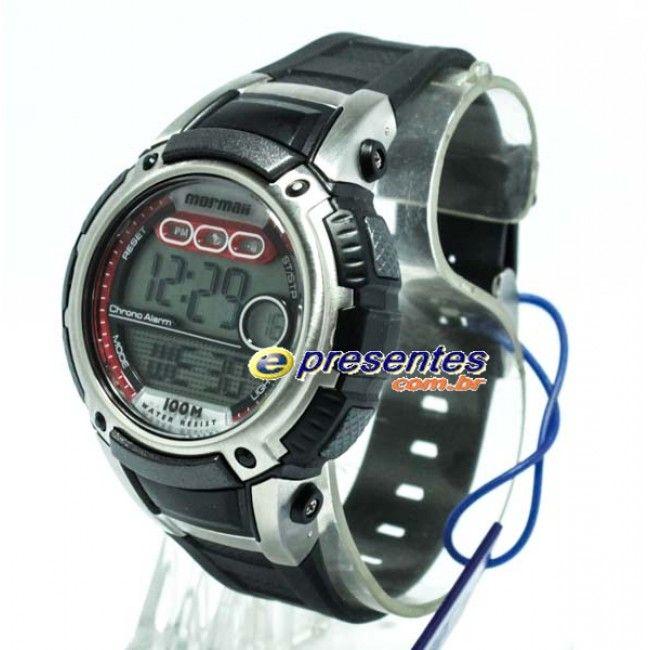 YP7344/8R Relógio MORMAII Masculino Digital Poliuretano