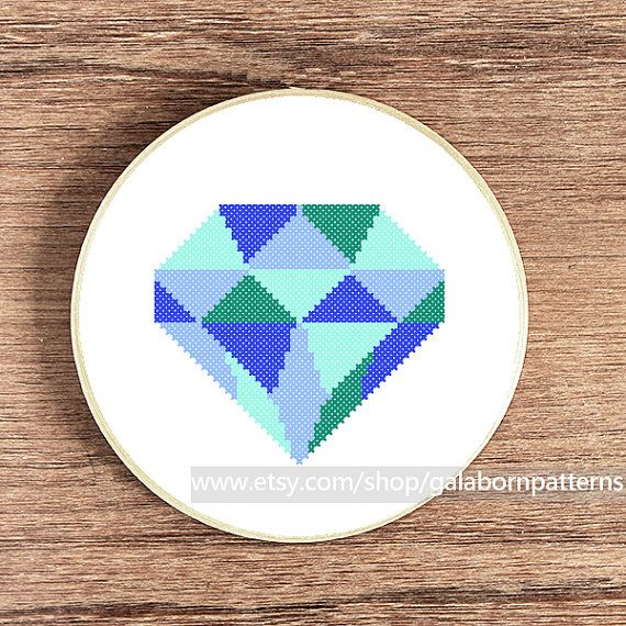 Diamond blue  Counted cross stitch pattern PDF door galabornpatterns