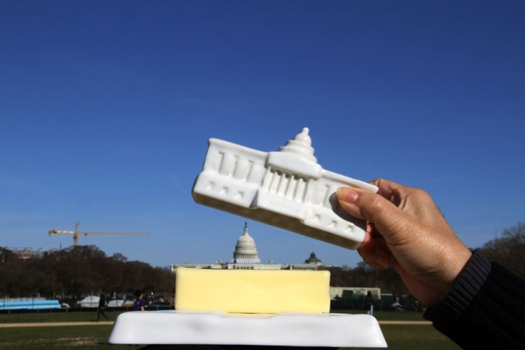 DC capitol butter dish