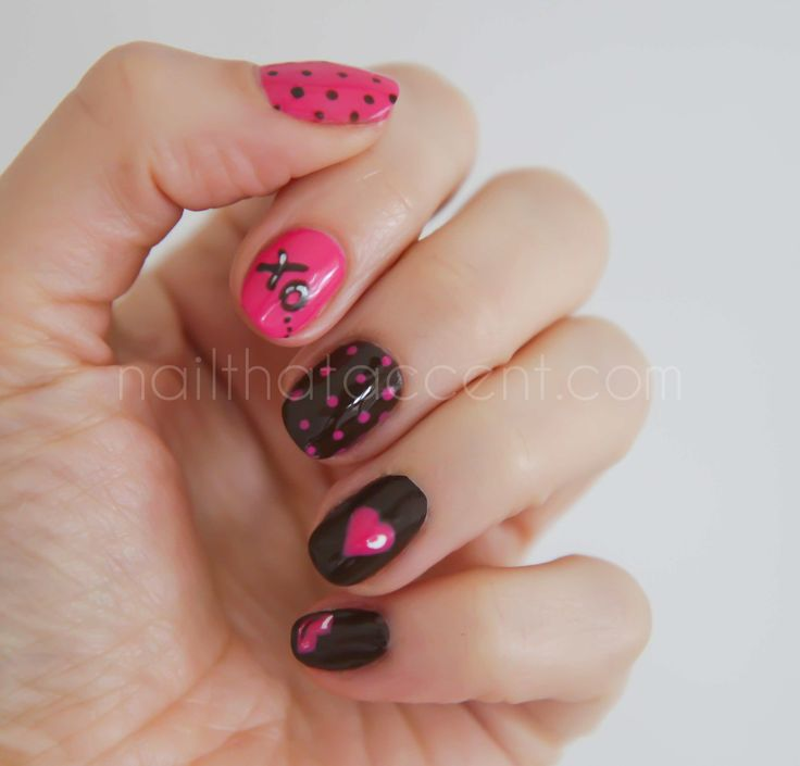 Valentine S Day Nails Art: 24 Best Images About Valentine's Day Nails On Pinterest