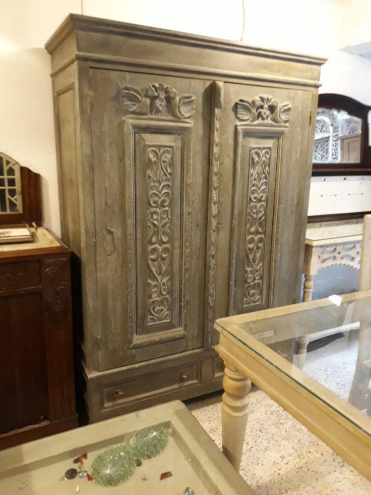 دولاب كبير باستخدام باب قديم Big Cabinet Using Old Door Furniture Decor Home Decor