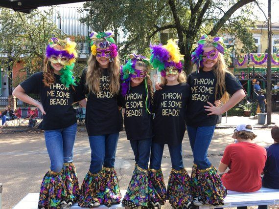 10a699f6e1b Mardi Gras outfit - pants for girls kids