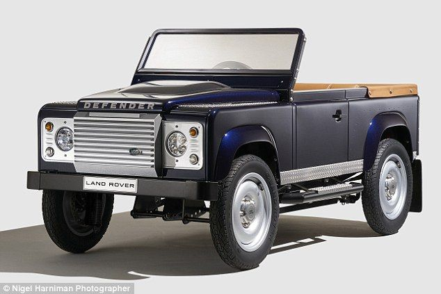 Mini 4x4:Land Rover has unveiled a Defender pedal car aimed at collectors and children of all ages
