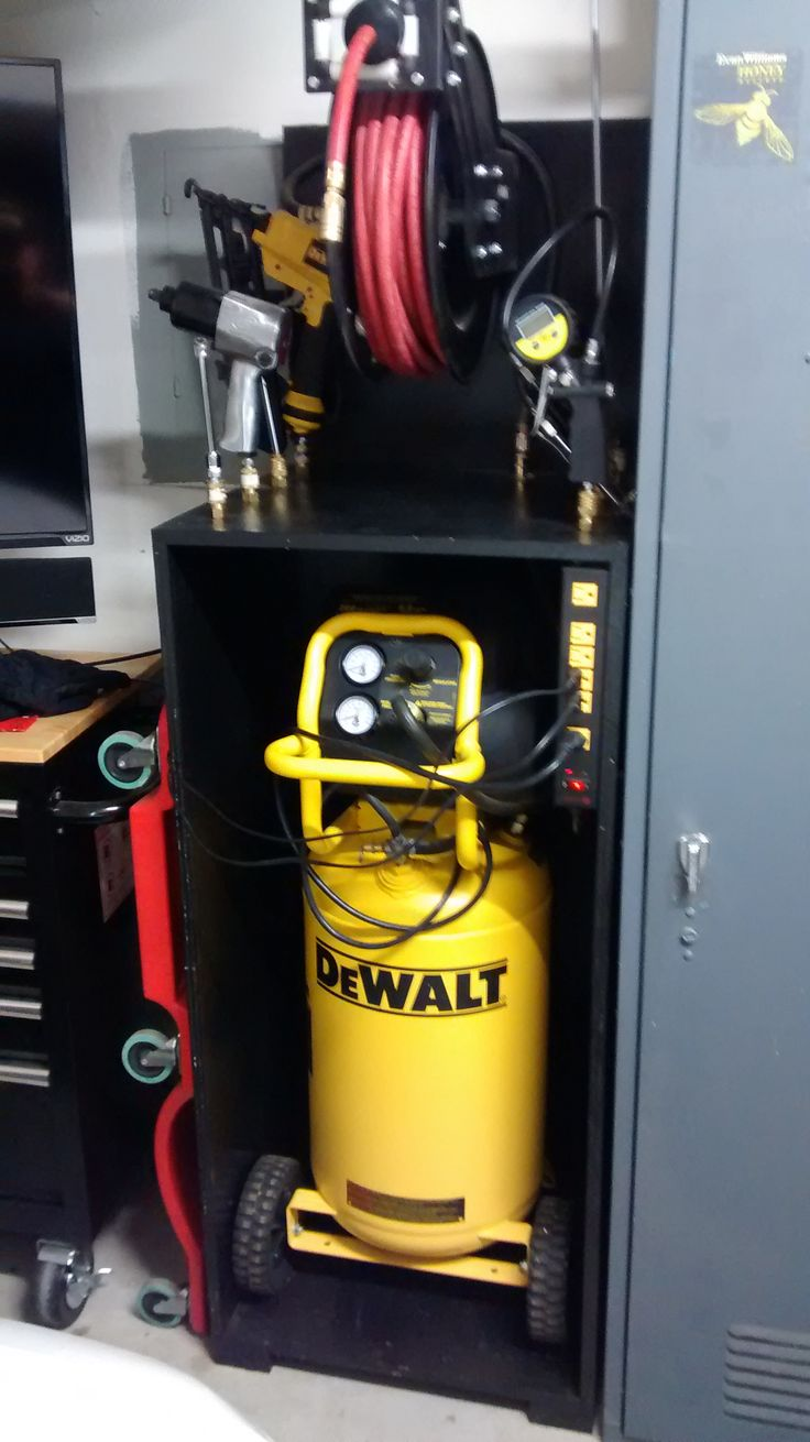 Air compressor storage Diy garage plans, Diy garage