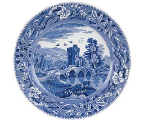 """Spode Blue Room Traditions Dinner Plate(s) Lucano by Spode. $13.00. Brand New - First Quality. Dimensions: 10"""" Dia. Dinner Plate(s) Lucano - Blue Floral Deco - Traditional Theme - Made In China"""
