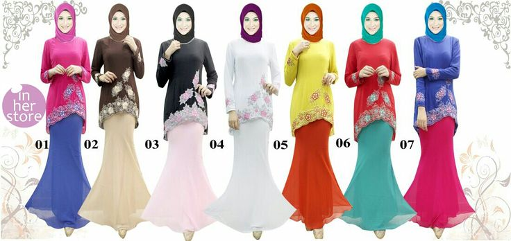 Baju Kurung by In Her Store Indonesia – Lollipop Series Material : Chiffon Cerutti Size : S – M – L – XL Retail Price : Rp 375rb/pc Reseler Price : Rp 350rb/pc (min.3pcs, mix size & colours allowed) PIN : 56EC4B97 Line : inherstore