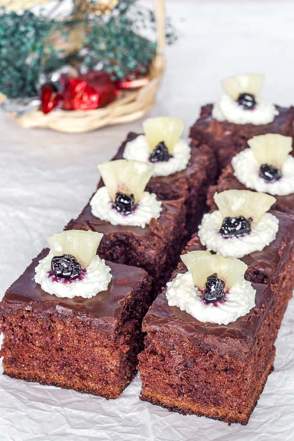 Absolutely delicious, mint flavoured chocolate brownies
