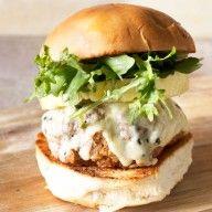 Castello Summer of Blue: Tropical Buffalo Blue Cheese Turkey Burgers - Cake 'n Knife