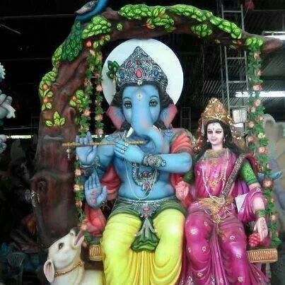 Ganpati in Krishna avatar