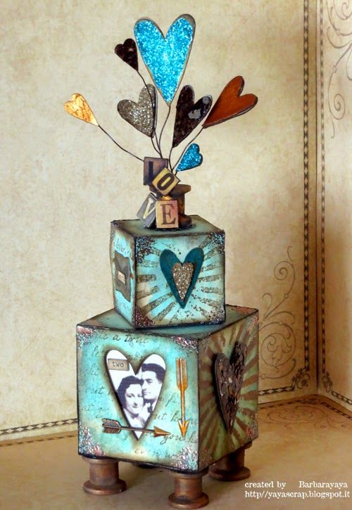 A Vintage Journey: Welcome Barbarayaya with an ATB; using Tim Holtz, Ranger, Sizzix and Stamper's Anonymous products; Jan 2015