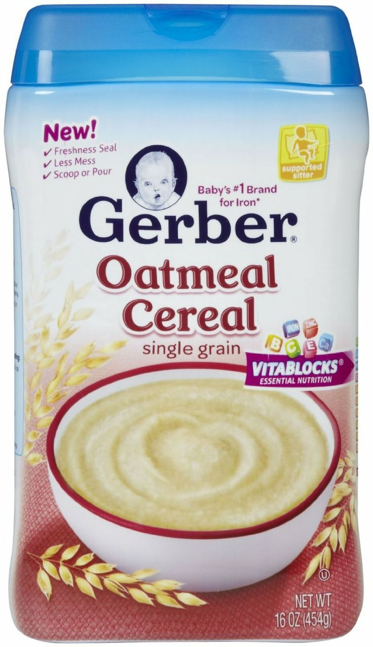 Gerber oatmeal cereal baby food recipes baby cereal
