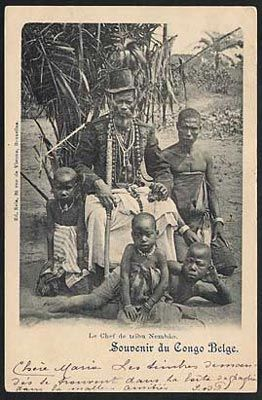 Kongo chief of Nemlâd, near Banana, Lower Congo, Congo Free State c.1892