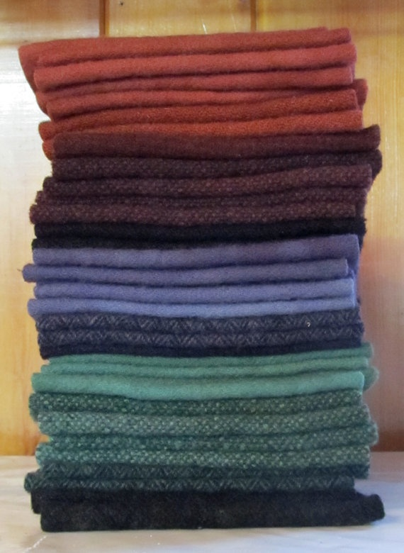 Hand Dyed Felted 100 Wool Fabric by ShopTheBlackSheep on Etsy, $4.00