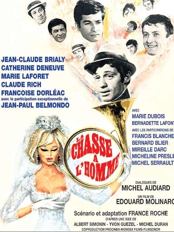La Chasse à l'homme est un film français réalisé par Édouard Molinaro, sorti en 1964. Dans un milieu bourgeois parisien, Antoine Monteil, jeune maquettiste en publicité, va épouser la fantasque Gisèle, une très jolie jeune femme du monde. Le meilleur ami du futur marié, Julien Brenot, statisticien, célibataire endurci et divorcé, tente obstinément de l'en dissuader lors de sa dernière soirée d'homme libre.