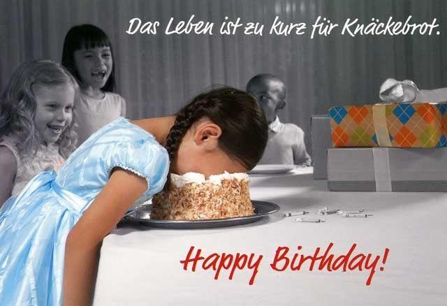 Lustige Geburtstagskarte – Das Leben ist zu kurz für Knäckebrot. Happy Birthday! Grußkarten Anlässe Geburtstag