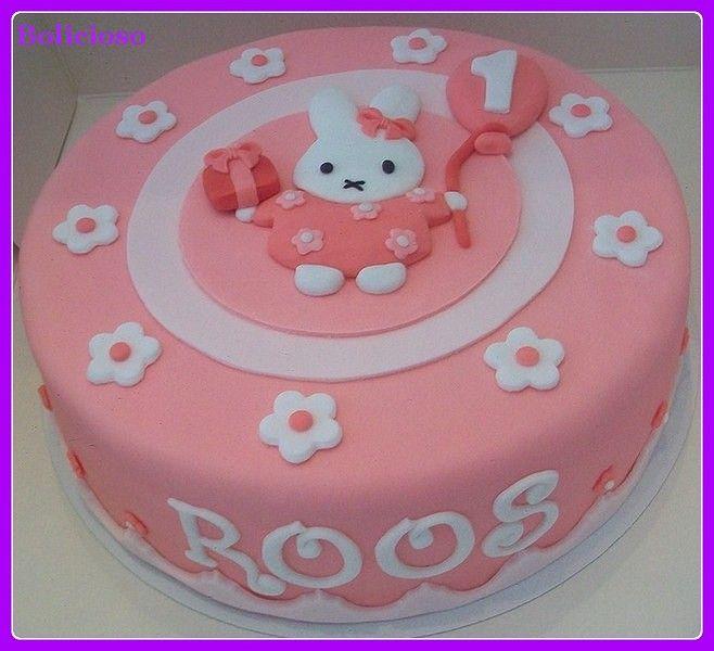 Nijntje taart / Miffy cake / bolo Miffy https://www.facebook.com/bolicioso