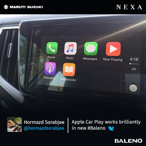 Hormazd Sorabjee (Editor, Auto Car India and Car Nut) on #Baleno's Apple Car Play.