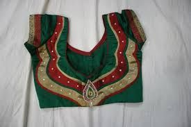 Image result for green silk saree blouse designs catalogue